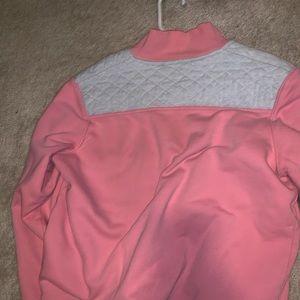 pink vineyard vines quarter zip jacket